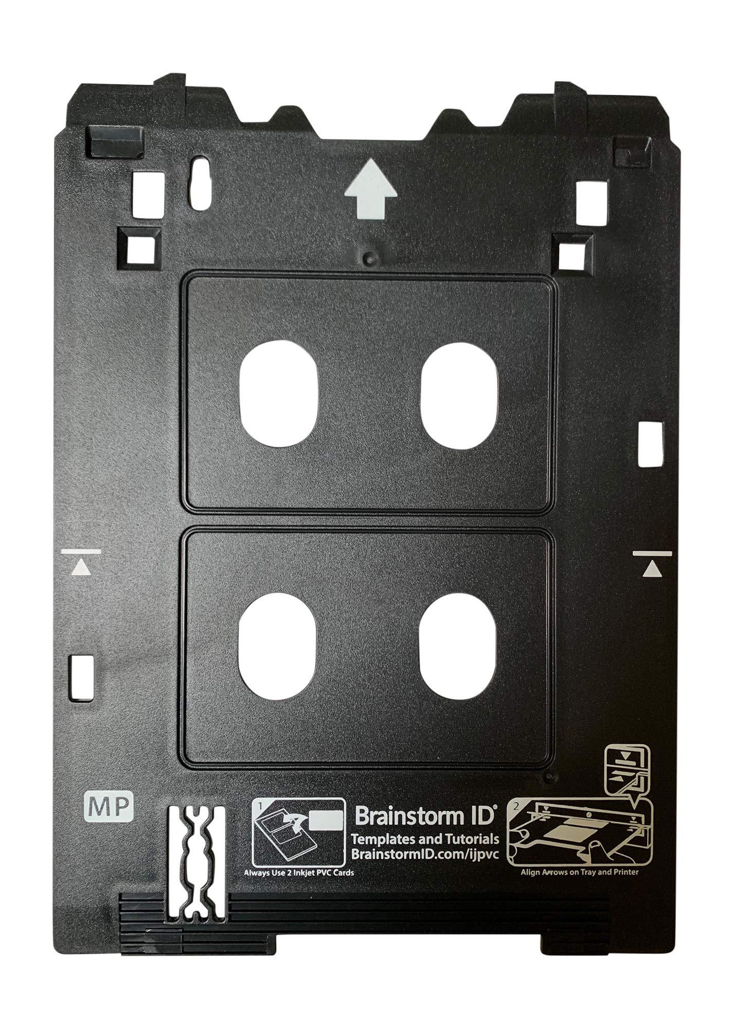 Inkjet PVC Card Tray for Canon PIXMA TS82xx, TS83xx, and TS95xx Series Printers (Canon MP/Multi-Purpose Tray Printers) by Brainstorm ID