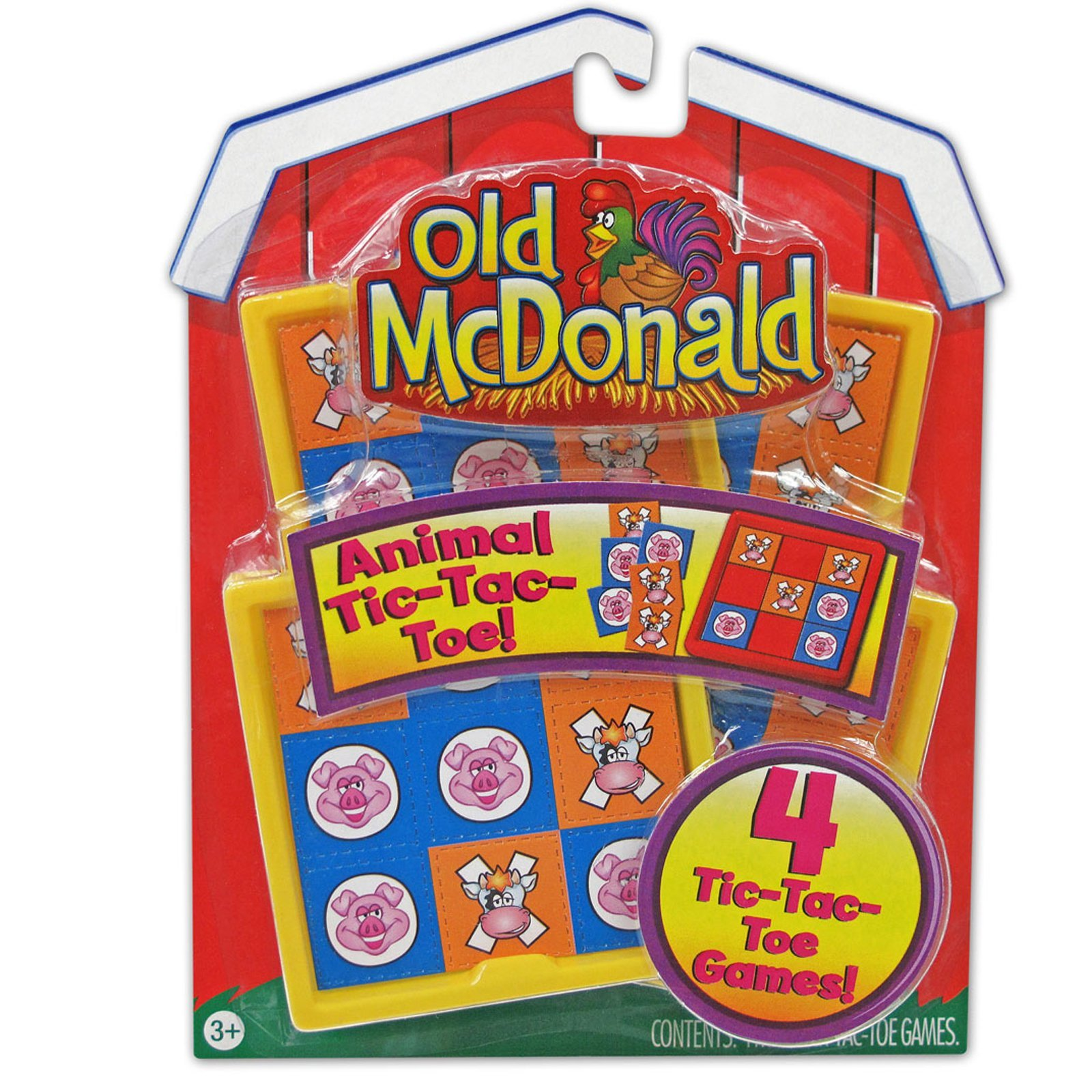 Party Destination - Old McDonald Tic Tac Toe Games by Mayflower Products
