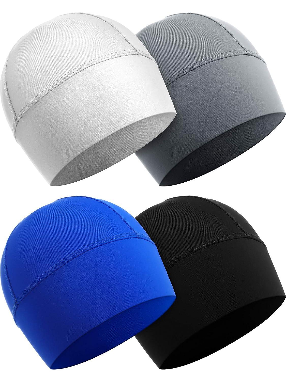 SATINIOR Sweat Wicking Helmet Liner, Cooling Cap, Running Hat, Cycling Cap Skull Cap, Helmet Hard Hat Liner for Men and Women (Assorted Color C, 4)