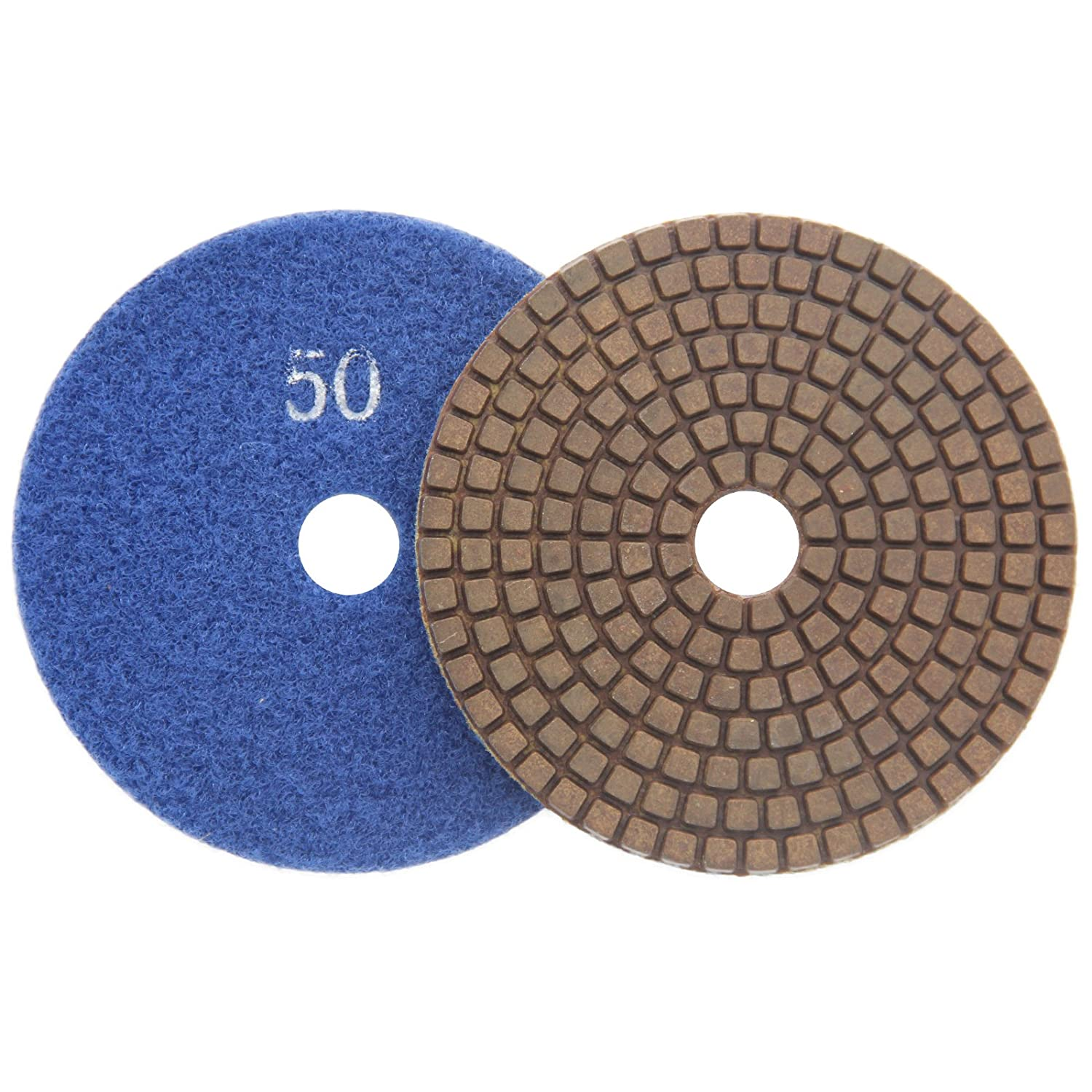 Ltd Fujian Yida Nano Materials Technology Co 7 Pcs//lot Easy Light 4 Inch Copper Diamond Polishing Pads Sanding Tool for Granite Marble Concrete Engineered Stone