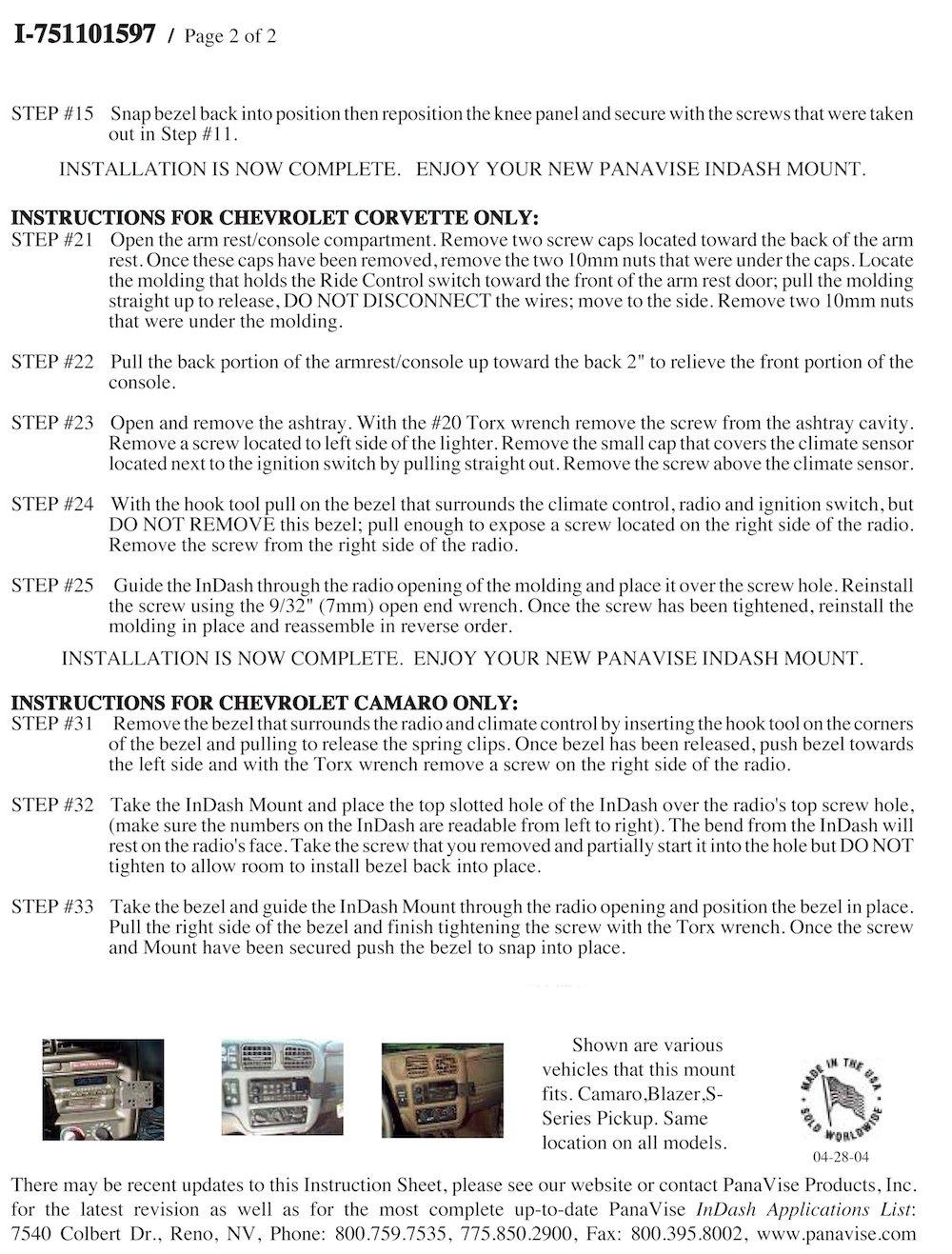 Padholdr Utility Series Premium Locking Tablet Dash Kit for 1998-2002 GMC Jimmy and Sonoma