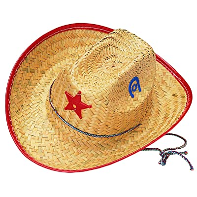 Rubies Child's Straw Cowboy Sheriff Hat: Toys & Games