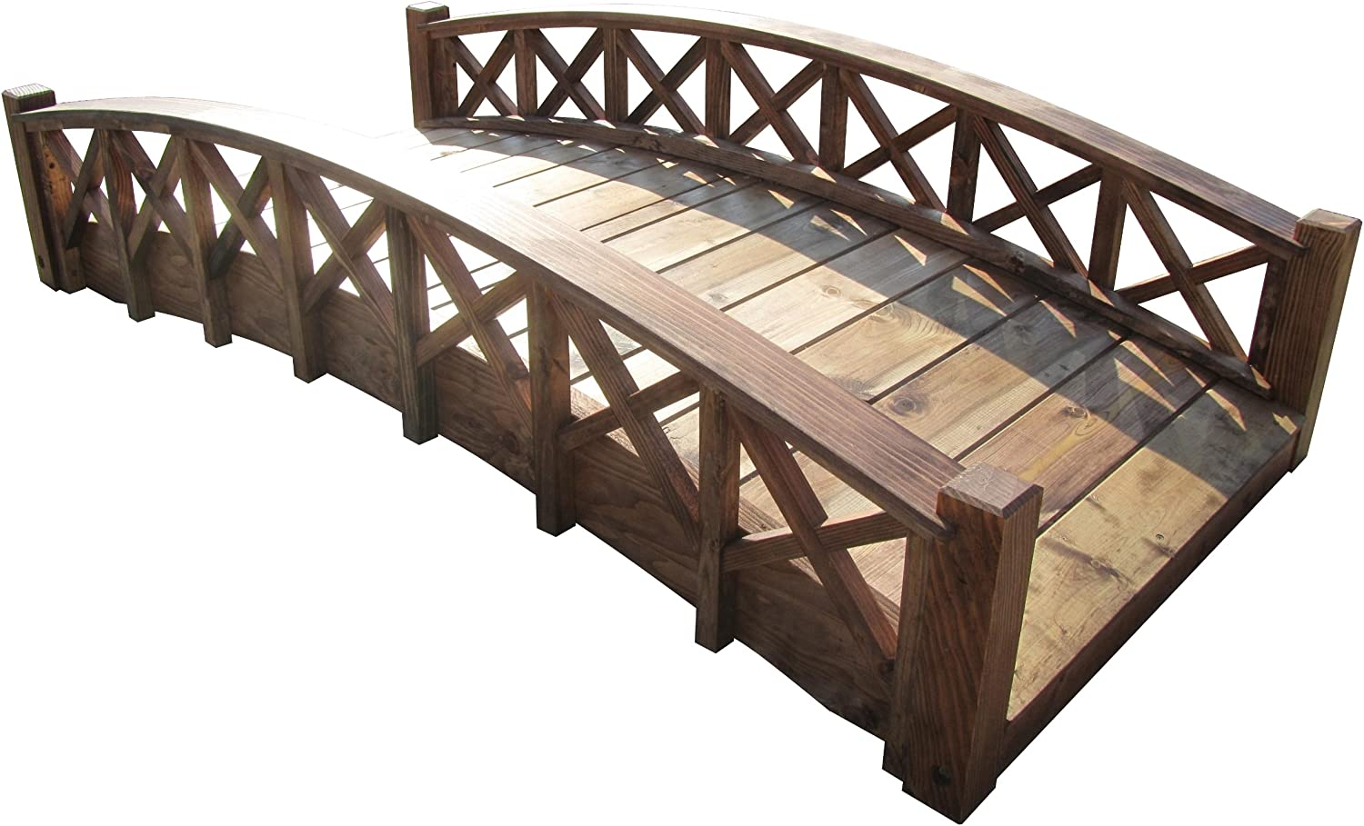 SamsGazebos MB-SB6-T Garden Bridge, 6-Feet, Brown