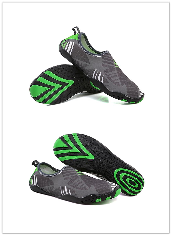 Zapatos de agua de secado rápido para hombres de UNN Zapatillas de deporte  multifuncionales para buceo de superficie Surf Swim Beach Yoga Gris oscuro 499fc956340