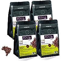 Eguia cafe en grano natural pack de 4 × 250g-No amargo & tostado medio arabica café grain de orígen Brasil