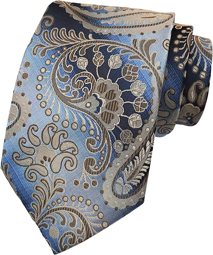 Delikates Blumenmuster in schimmernden Gr/ünt/önen auf silbernen Grund Chris Vu Krawattenset in Silber und Gr/ün mit Manschettenkn/öpfen Krawattennadel und Einstecktuch