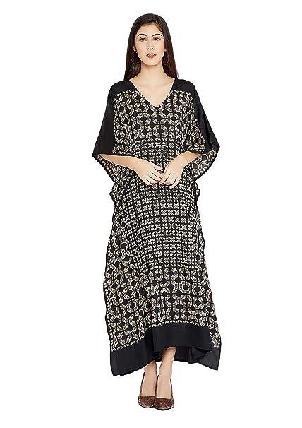 05341a8d5db03 Goood Times Burgundy Paisley Long Kaftan Kimono Maxi Dress Plus Size Caftan  Gown Nightdress for Women