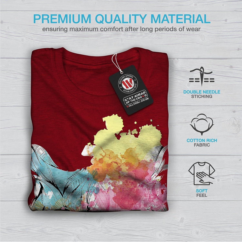 Wellcoda Stylish Owl Bird Womens T-Shirt Beautiful Graphic Style Design Tee