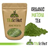 Organic Matcha Green Tea Powder - 100% Pure Ground Matcha Tea - No Fillers, Additives or Artificial Ingredients of Any Kind ((4 Oz - Appx 100 Servings))