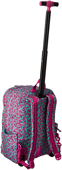 Amazon.com  Vera Bradley Women s Lighten Up Printed Rolling Backpack ... 3e654755df8b8