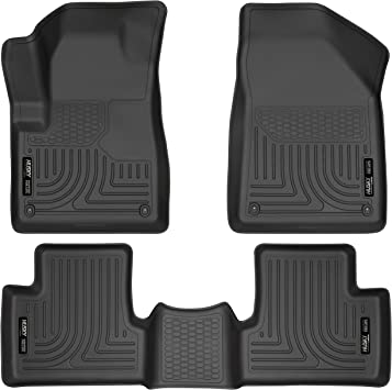 Amazon Com Husky Liners Fits 2014 15 Jeep Cherokee Weatherbeater Front 2nd Seat Floor Mats Automotive