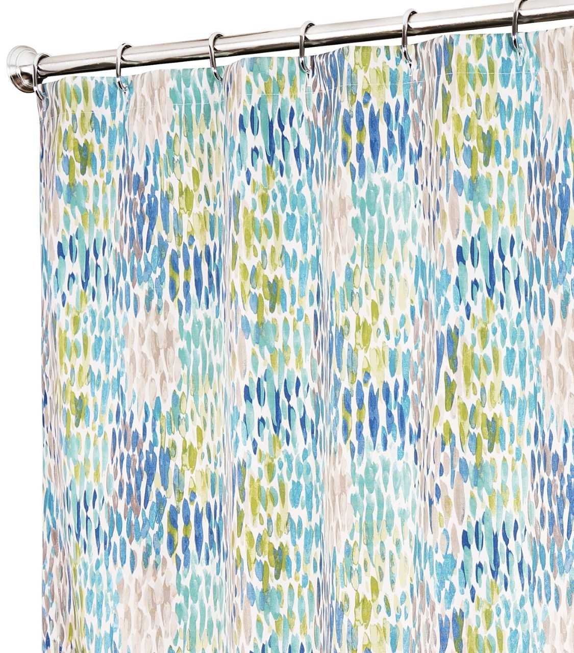 Extra Long Shower Curtain Unique Designer Modern Blue Print 84 ...