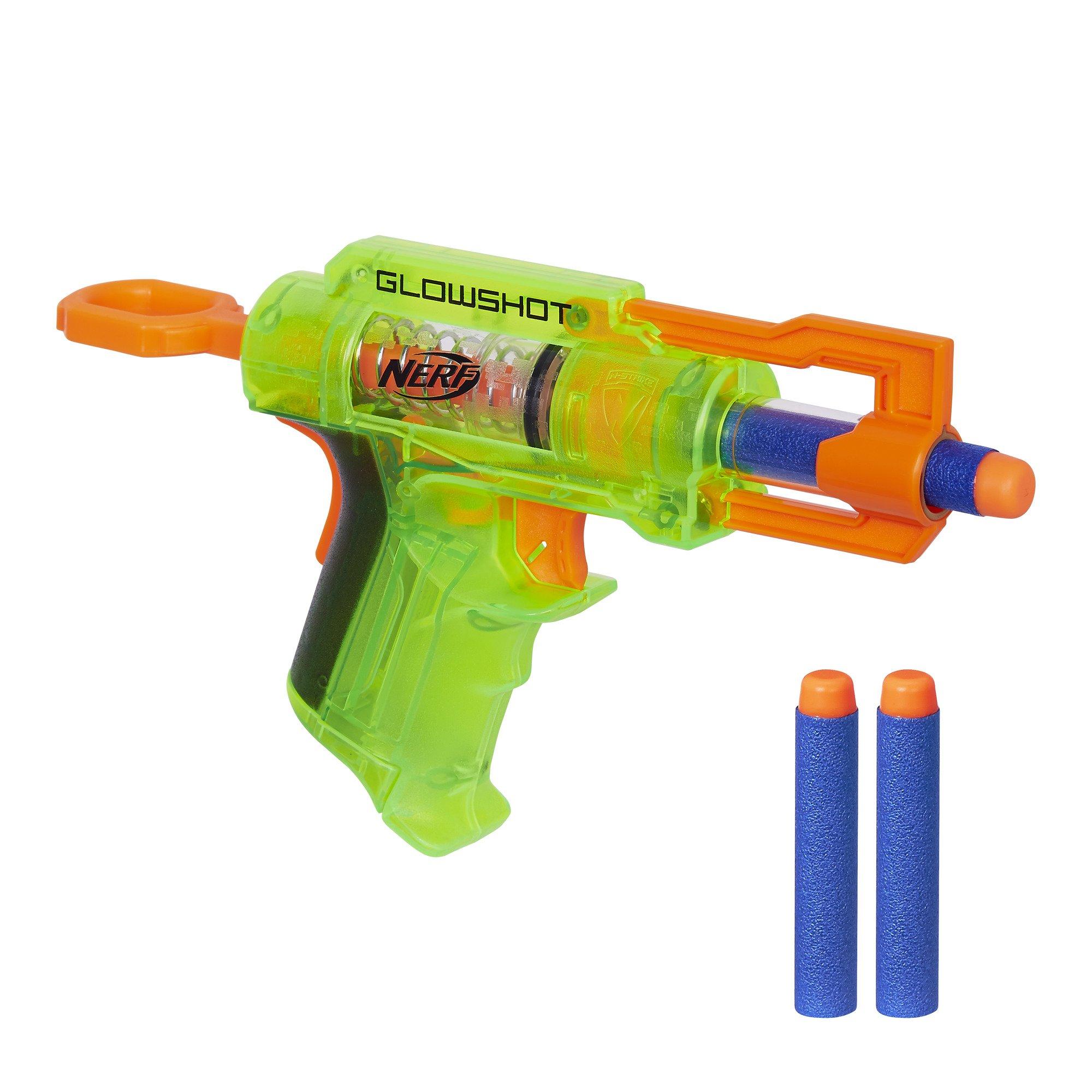 FUN KIDS Nerf Gun With LIGHTS Toy 3 Darts Nerf N Strike GlowShot Blaster