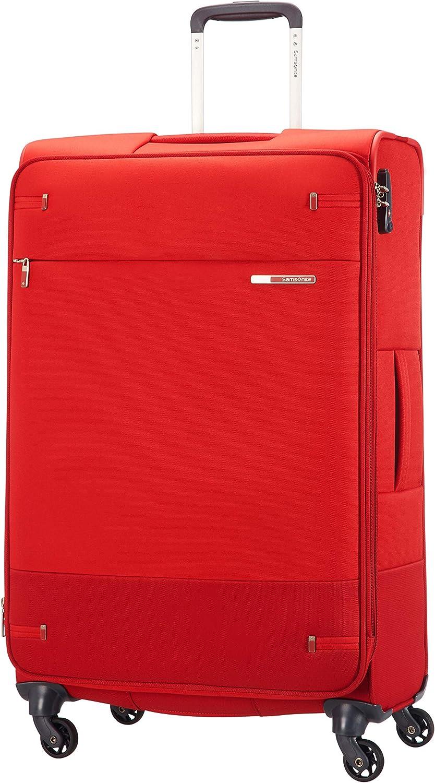 Samsonite Base Boost Spinner M Maleta Expansible, 78 cm, 105/112.5 L, Rojo (Red)