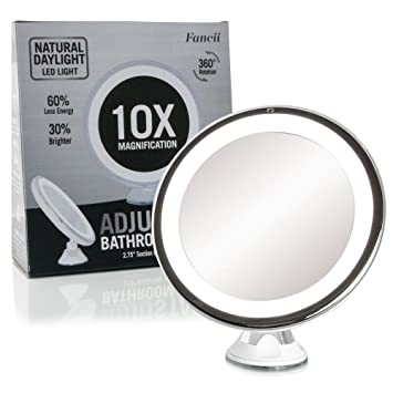half off bd637 2f93d Fancii Daylight LED 10X Magnifying Makeup Mirror - 8.0