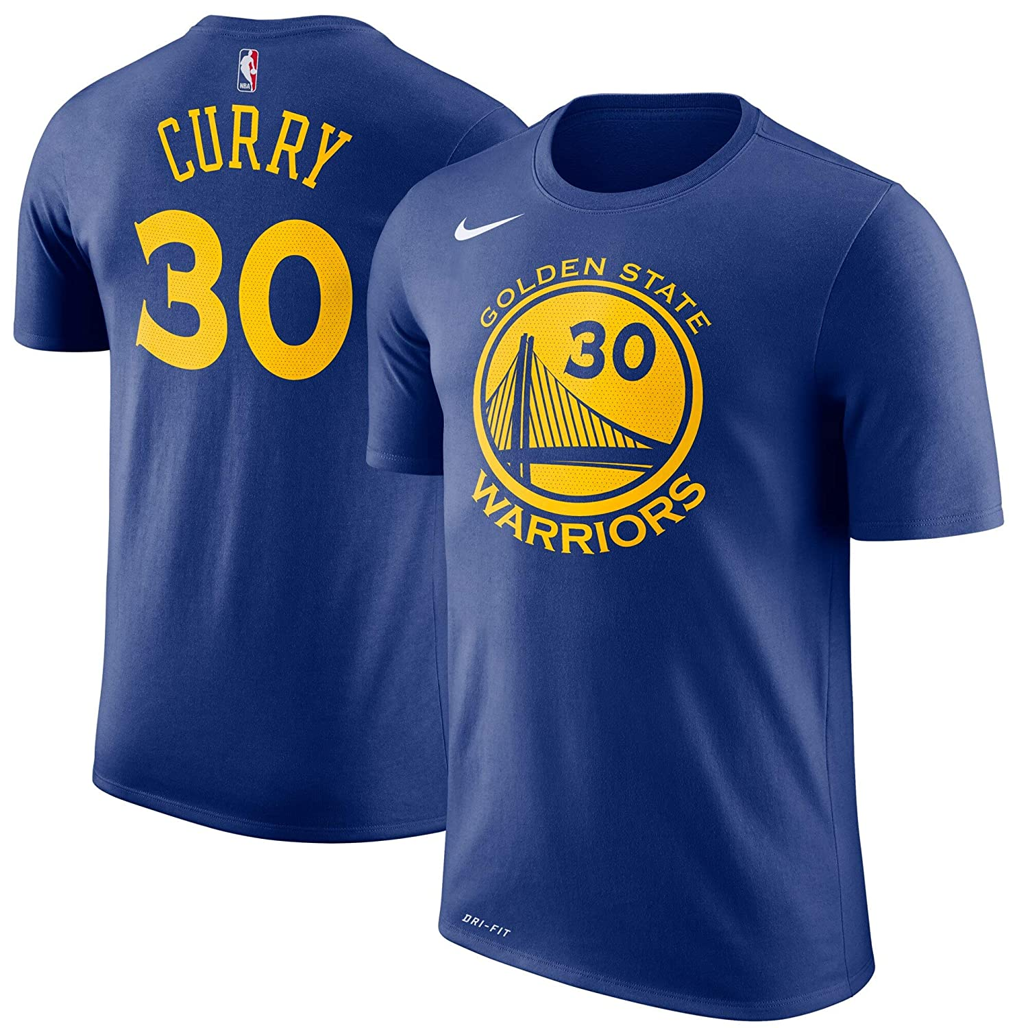 c8178303fe5d9 Nike Stephen Curry Golden State Warriors NBA Youth 8-20 Royal Blue Official  Player Dri-Fit Performance T-Shirt