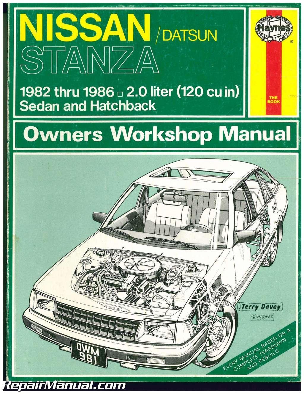 uh981 used haynes datsun nissan stanza 1982 1986 auto repair manual rh amazon com Auto Repair Manuals Online Online Repair Manuals