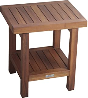 Spa Shower Stool Seat With Shelf