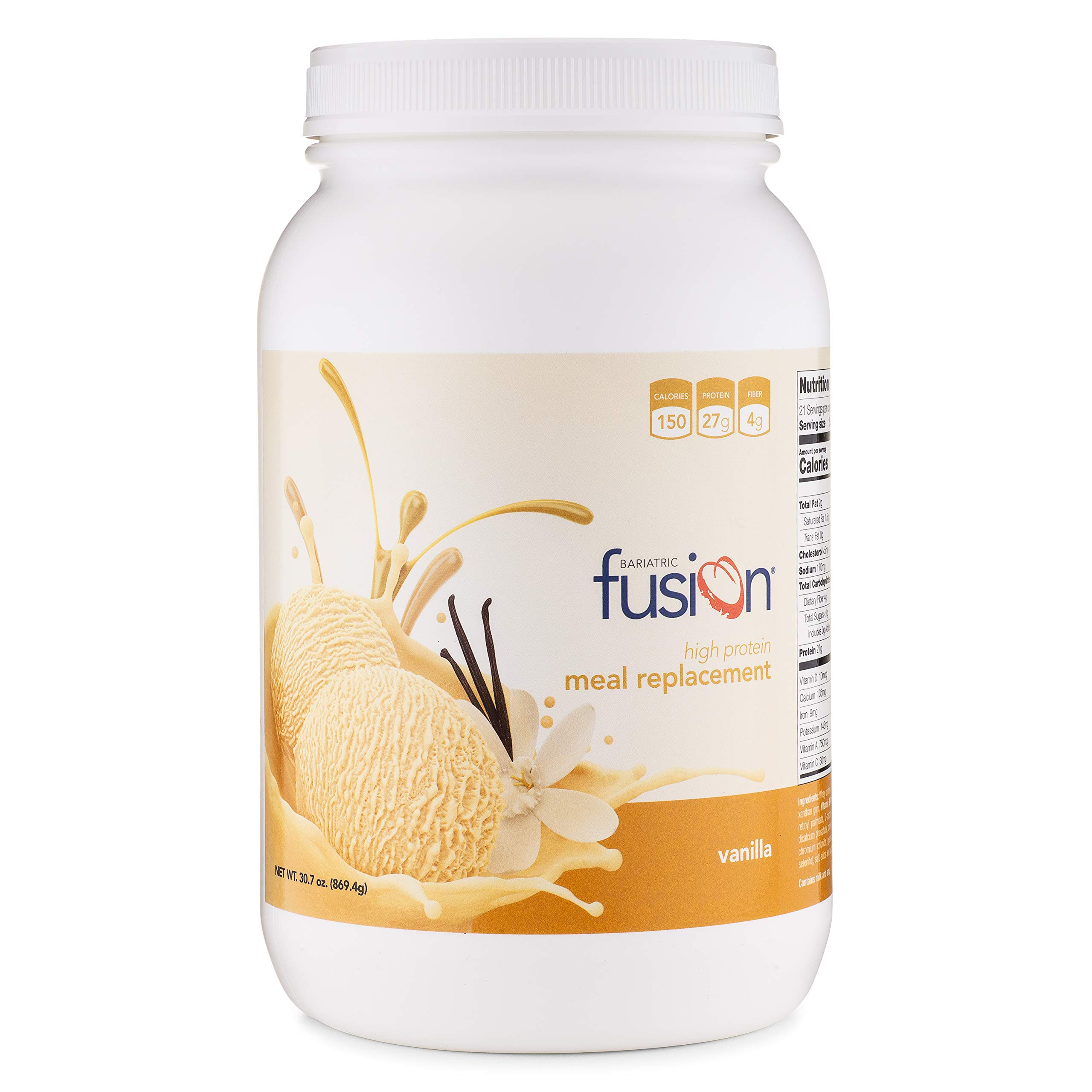 Bariatric Fusion Vanilla Meal Replacement Protein 21 Serving Tub for Bariatric Surgery Patients Including Gastric Bypass & Sleeve Gastrectomy