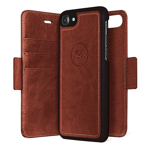 4 opinioni per Custodia iPhone 7, SAVFY 2 in 1 Flip Magnetica Custodia in pelle Protettiva Case