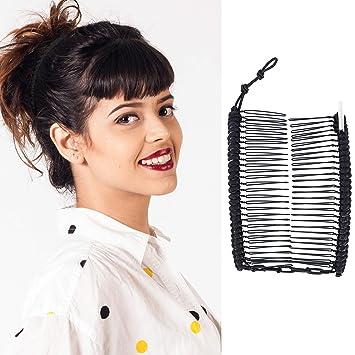 LLAin Vintage Banana Hair Clip Christmas Hair Accessory Stretchable Banana Coil Up Hair Style Hair Comb