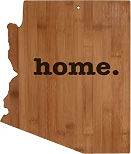 Arizona State Shaped Bamboo Wood Cutting Board Engraved home. Personalized For New Family Home Housewarming Wedding Moving Gift