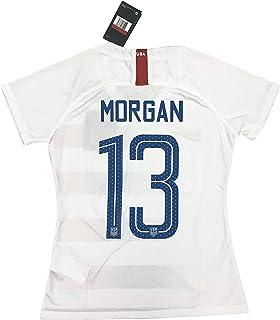 6096b6210e3 Amazon.com   Nike 2018 19 Womens USA Stadium Home Jersey White Red ...