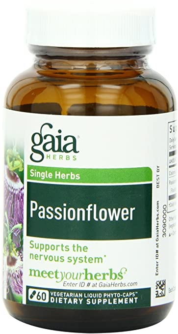 Gaia Herbs Passionflower natural anxiety relief