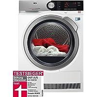 AEG T9DE87685 Wärmepumpentrockner / FiberPro - Punktgenaue Trockenergebnisse / 8,0 kg / energiesparend / Mengenautomatik / Knitterschutz / Kindersicherung / Schontrommel / Trommelbeleuchtung / Startze