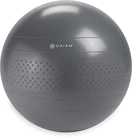 Amazon.com: Gaiam – Balance de pelota, gris, 65 cm: Sports ...