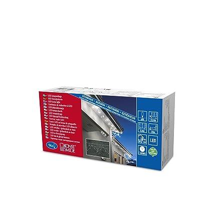 Konstsmide 2748-102 LED Dachrinnenlichterkette in Bogenform / für Außen (IP44) / 24V Außentrafo / 96 warm weiße Dioden / weiß