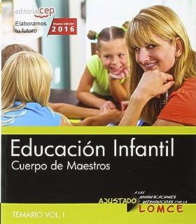 Pack de libros. Cuerpo de maestros. Educación infantil: Cuerpo de maestros. Educación infantil. Temario. Vol.II: 2 - 9788468167572: Amazon.es: AA.VV.: Libros