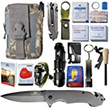 STEALTH SQUADS 42 in 1 Survival Military Pouch KIT, Premium Tactical Pocket Knife, First AID KIT, EDC Multi-Tool USE for…