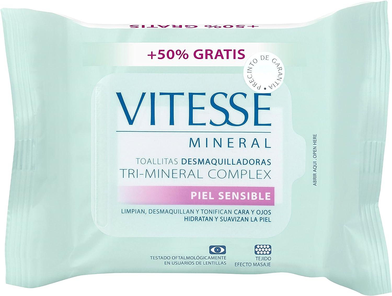 Vitesse Mineral Toallitas Desmaquilladoras - 30 Unidades: Amazon ...