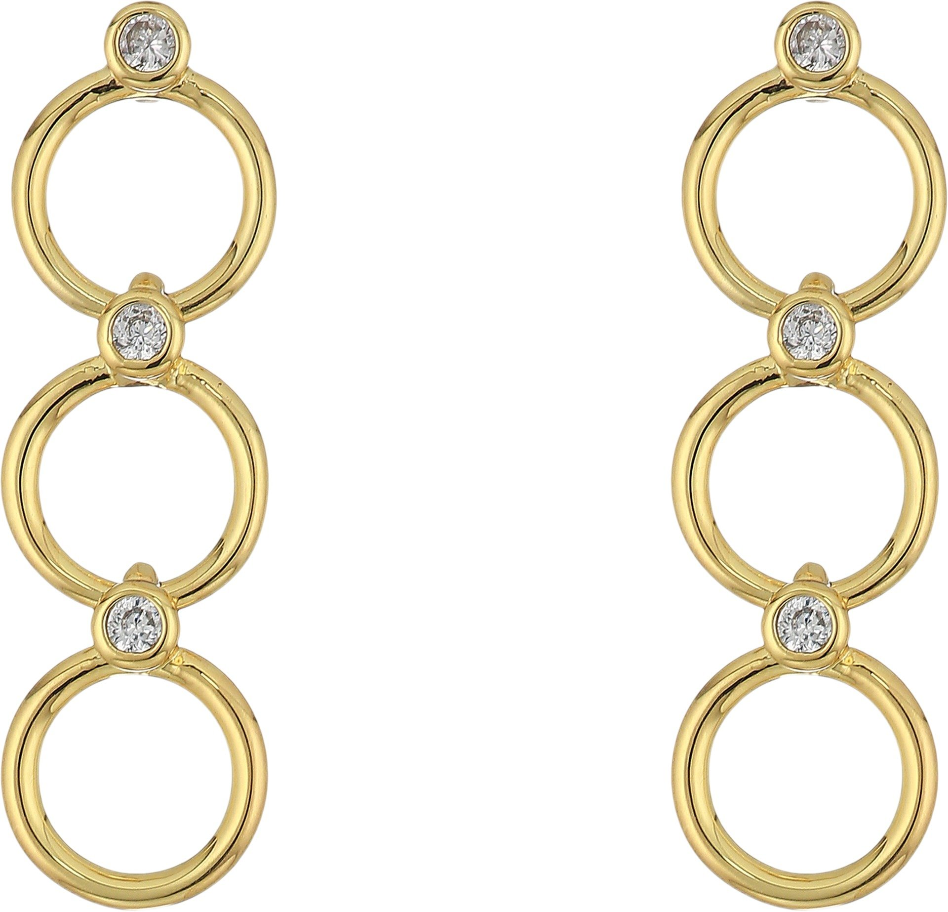 Kate Spade New York Women's Chain Reaction Delicate Linear Earrings Clear/Gold One Size