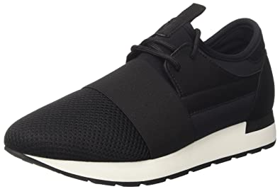 Womens Boss Low-Top Sneakers, Black Pollini