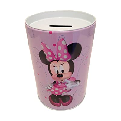 The tin box company Minnie on Purple Kids Coin (Money) Bank, Disney : Baby