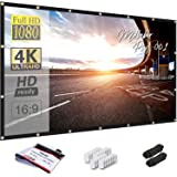 Mdbebbron 150 inch Projection Screen 16:9 Foldable Anti-Crease Portable Projector Movies Screen for Office Home Theater Outdo