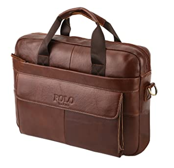 VIDENG POLO Leather Briefcase 2a7f4d07f423d