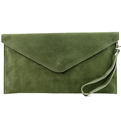 6769911e0304a modamoda de - T106 - ital Clutch Abendtasche aus Wildleder