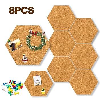 Pizarra de corcho hexagonal para decoración de fotos, notas ...