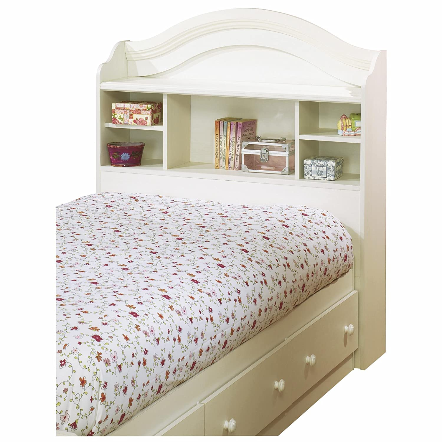 Amazon South Shore Summer Breeze Twin Bookcase Headboard and