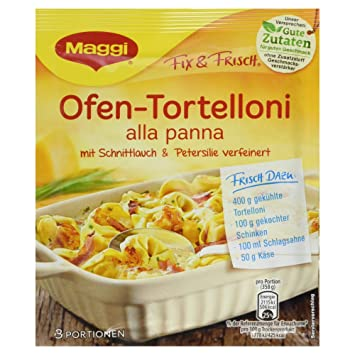 Amazon.com : Maggi Fix For Ofen-Tortelloni alla panna : Tortellini ... | {Maggi fix 30}