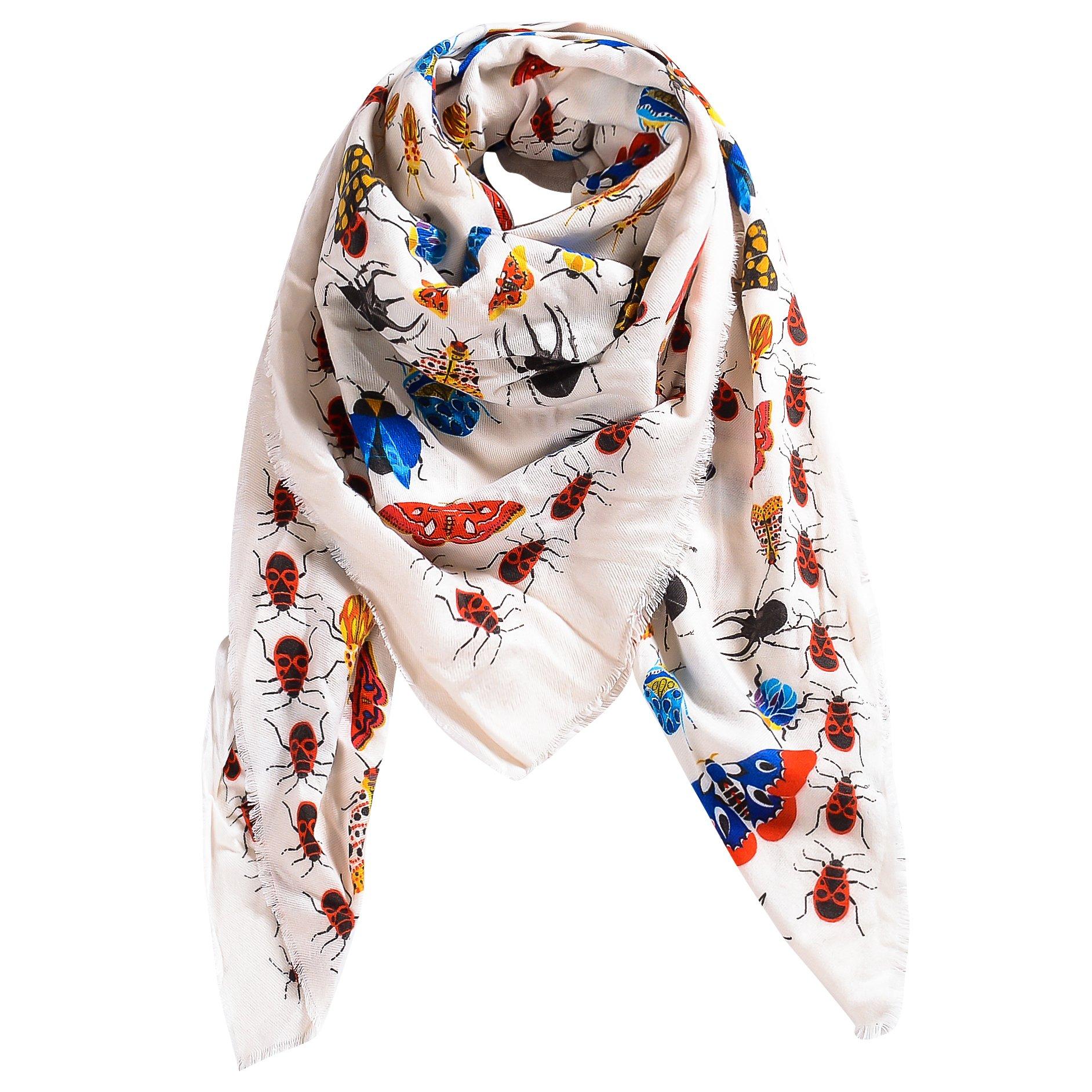 Cashmere Shawl Wrap for Women Warm Elegant Soft Feeling Wool Scarf Plaid Blanket Pashmina Scarfs for Women Winter Scarves Thick White