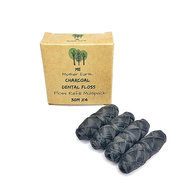 ME MOTHER EARTH VEGAN Biodegradable Bamboo Charcoal Dental Floss Refill