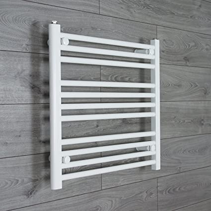 Calentador Radiador Estantería Calefacción Central 700mm ancho x 600mm alto Radiador Secatoallas Recto Plano Blanco Baño