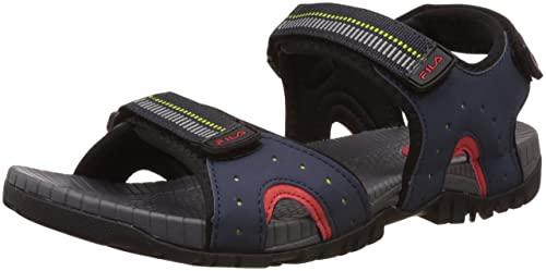 70a2e81fadaa Fila Men s Raidon Navy and Red Sandals and Floaters -11 UK India (45 ...