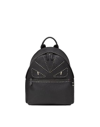 a724199efc Fendi Men s 7Vz01274hf0gxn-Mcf Black Leather Backpack  Amazon.co.uk   Clothing