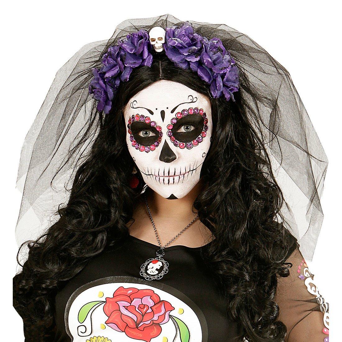 Día de los muertos sombrero cráneo mexicano de Halloween vestido elegante  adultos 07b2551a9d8