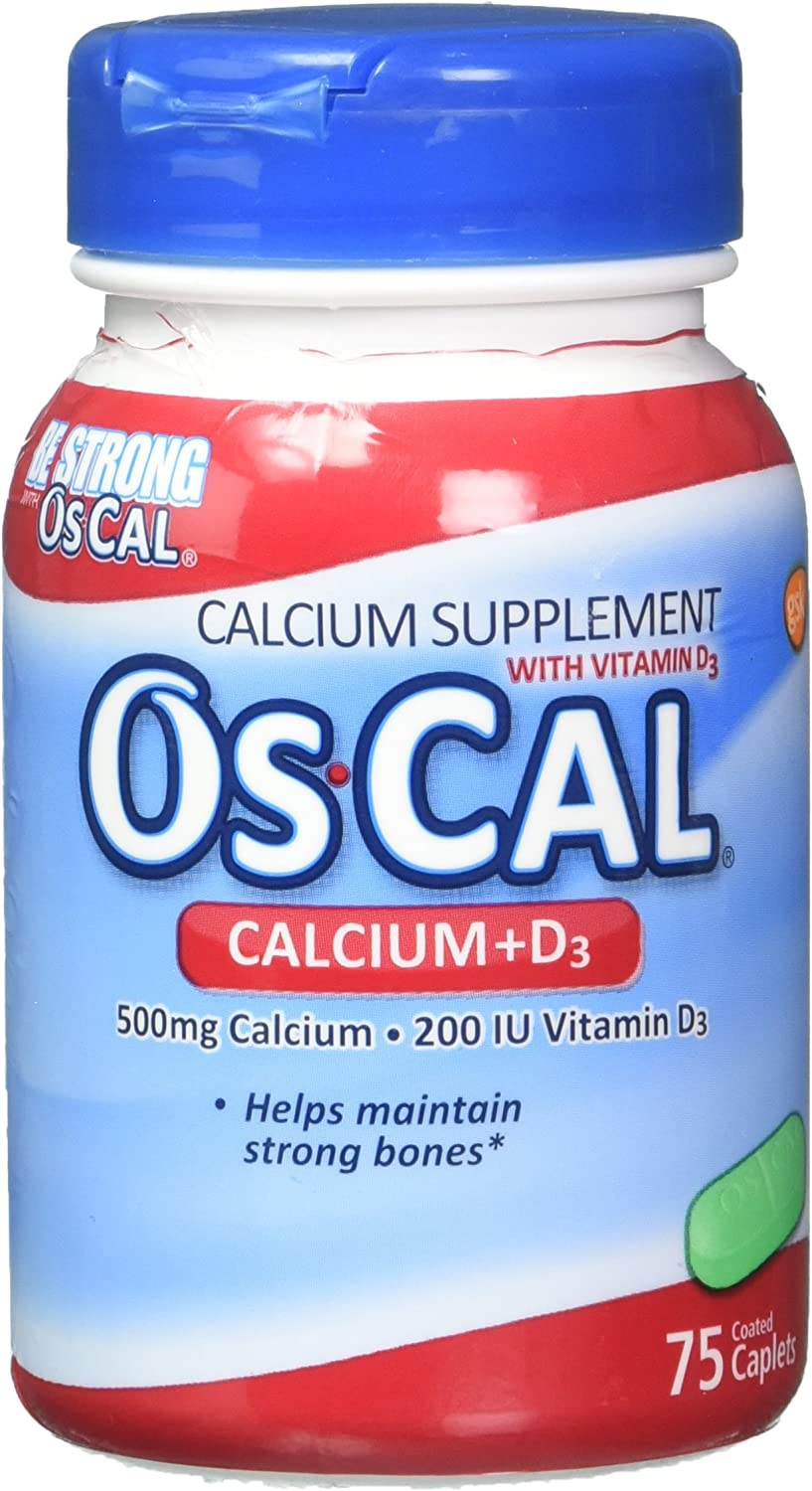 Oscal 500 Mg W/D 60+15 Size 75s Oscal Calcium Supplement With Vitamin D Pack of 3